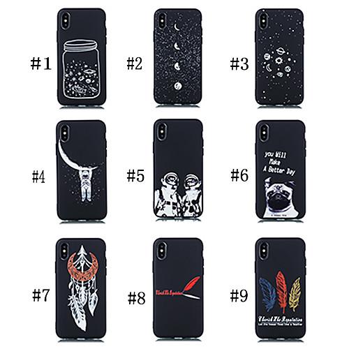 Кейс для Назначение Xiaomi Xiaomi Pocophone F1 / Ми 9 Матовое / С узором Кейс на заднюю панель С собакой / Слова / выражения / Цвет неба Мягкий ТПУ для Xiaomi Pocophone F1 / Xiaomi Mi Play / Xiaomi фото