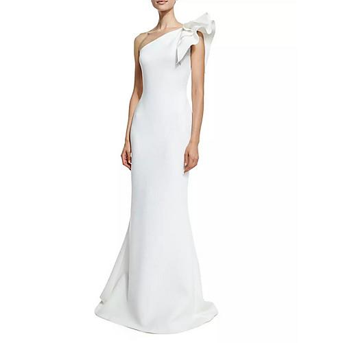 Жен. Элегантный стиль С летящей юбкой Платье - Однотонный Макси фото