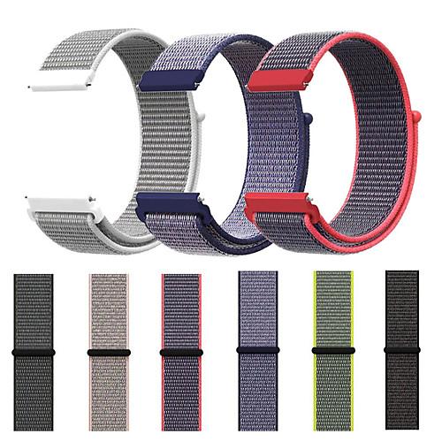 Ремешок для часов для Gear S3 Frontier / Gear S3 Classic / Samsung Galaxy Watch 46 Samsung Galaxy Спортивный ремешок Нейлон Повязка на запястье фото