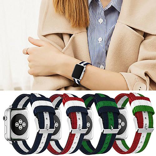 Ремешок для часов для Apple Watch Series 4/3/2/1 Apple Спортивный ремешок Материал / Нейлон Повязка на запястье фото