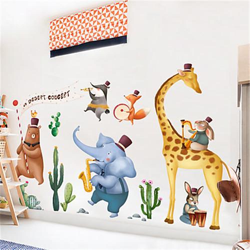 Творческий nordic животных украшения стикер стены мультфильм детская комната спальня детский сад коридор самоклеящаяся живопись