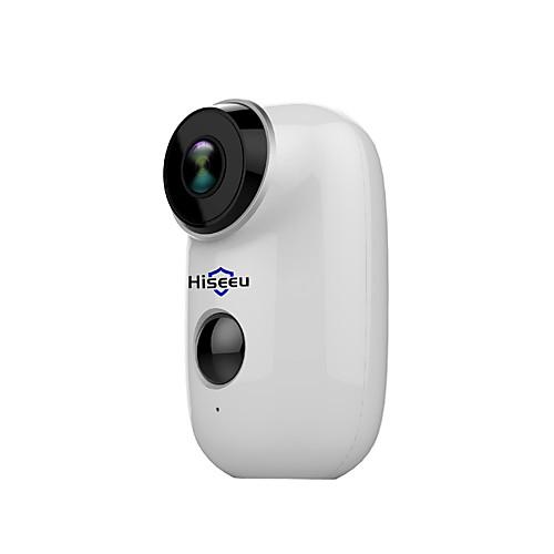 hiseeu hiseeu 100% беспроводная аккумуляторная батарея cctv wifi ip-камера наружная ip65 защищенная от непогоды домашняя камера безопасности сигнализация движения pir 15 мп ip-камера внутренняя