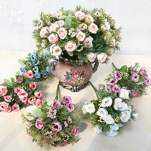 Искусственные Цветы 5 Филиал Односпальный комплект (Ш 150 x Д 200 см) Сценический реквизит Простой стиль Розы Букеты на стол