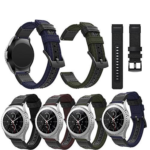 Ремешок для часов для Gear Sport / Gear S2 Classic Samsung Galaxy Спортивный ремешок Кожа / Нейлон Повязка на запястье фото
