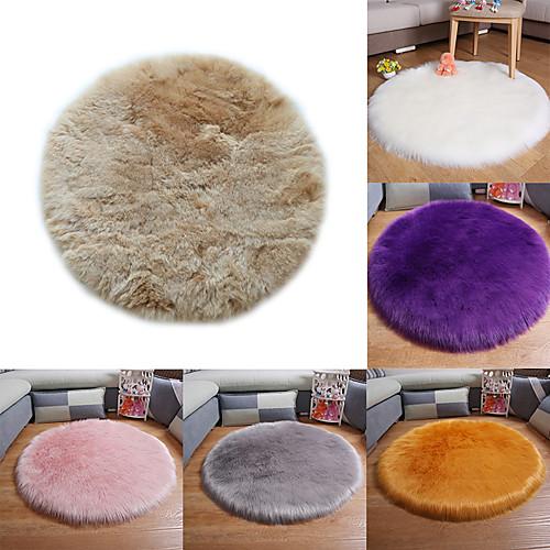 мягкий искусственный овчинный коврик чехлы на стулья коврик для спальни искусственная шерсть теплый волосатый ковер сиденье шерсть теплый текстиль меховой коврик