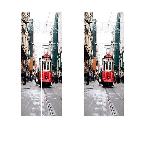 3d новинка метро поезд дверь стены стикеры краски обои для рабочего стола diy водонепроницаемый росписи плаката гостиная украшения дома