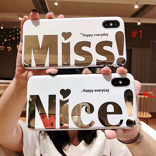Case For Apple iPhone XS Max / iPhone 6 Pattern Back Cover Word / Phrase Soft TPU for iPhone XS / iPhone XR / iPhone XS Max