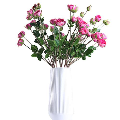 Искусственные Цветы 1 Филиал Классический европейский Простой стиль Розы Вечные цветы Букеты на стол фото