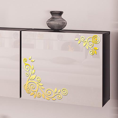 творческий акриловые наклейки на стену сделай сам мода цветок лоза зеркало наклейки на стены персонализированные украшения стены