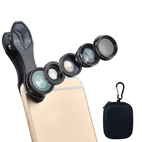 Объектив для мобильного телефона Объектив с фильтром / Объектив фиш-ай / Длиннофокусный объектив стекло / Алюминиевый сплав / ABS PC 2X 25 mm 10 m 198 ° Творчество / Милый / Веселая фото