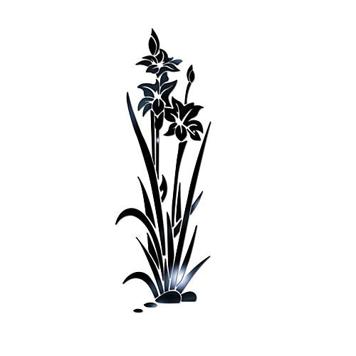 Декоративные наклейки на стены - 3D наклейки / Зеркальные стикеры Цветочные мотивы / ботанический / 3D Спальня / Кабинет / Офис фото