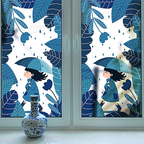 мультфильм милый подвижный оконная пленка пвх&усилитель; наклейки украшения геометрические