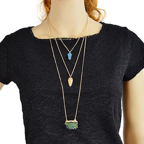 Жен. Многослойный Слоистые ожерелья Природа Праздник Мода Cool Милый Синий 47 cm Ожерелье Бижутерия 1шт Назначение Повседневные Карнавал Офис
