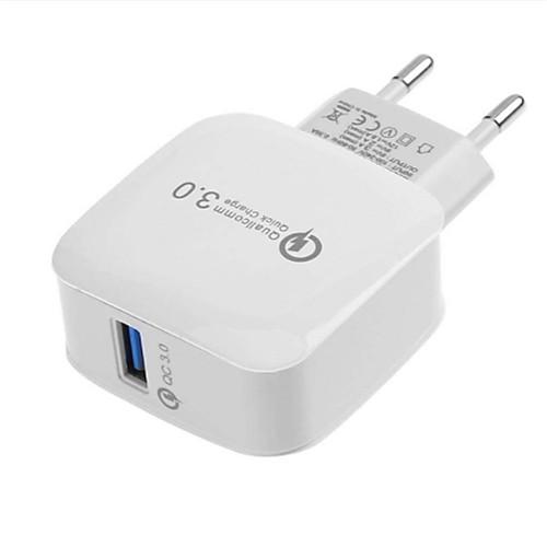 Быстрое зарядное устройство / Портативное зарядное устройство Зарядное устройство USB Евро стандарт QC 3.0 1 USB порт 2.1 A 100~240 V для Универсальный фото