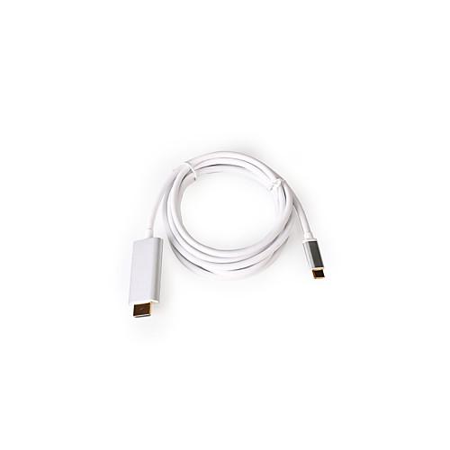 Разрешение USB-C Effelon 1,8 м 4K тип C USB 3.1 мужской кабель HDMI для MacBook 12 дюймов / Chromebook / Lumia950 XL и т. д. USB 3.1 Тип телефона для HDMI-видео HDTV адаптер видео кабель для Samsung
