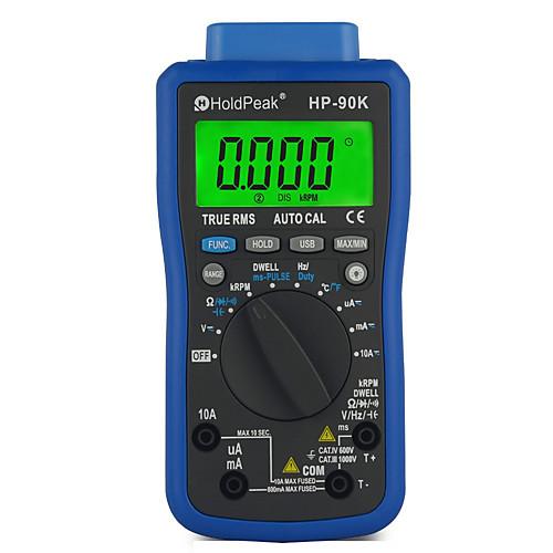Holdpeak hp-90k анализатор двигателя тестер авто диапазон авто диагностический инструмент с выводом данных через usb автомобильный мультиметр multimetro