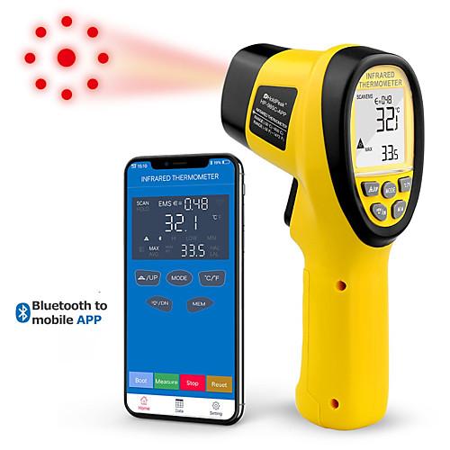 Holdpeak hp-985c-app ИК-термометр Рукоятка -50-800c / -58-1472'f термометр пистолет ИК термометр с приложением Bluetooth фото