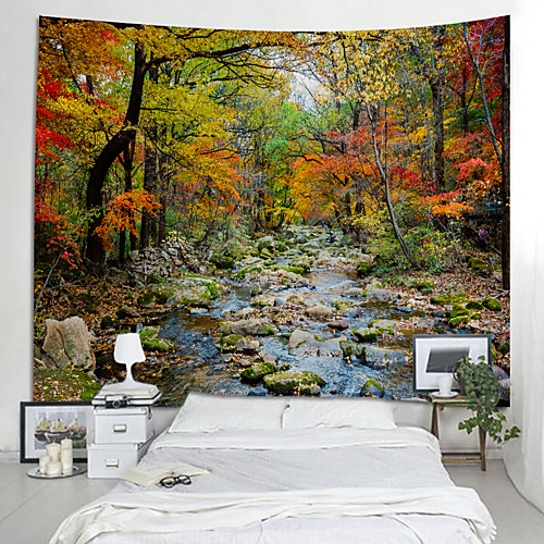 Сад / Цветы Декор стены 100% полиэстер Modern Предметы искусства, Стена Гобелены Украшение
