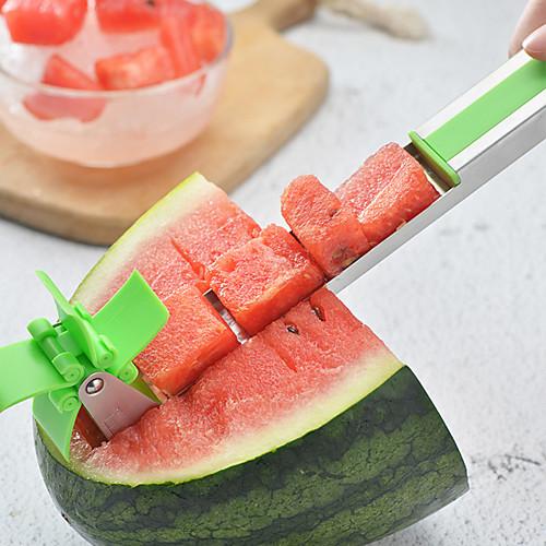Нержавеющая сталь l арбуз ломтик фруктовый нож cutte щипцы corer фрукты дыня овощные инструменты кухонные гаджеты