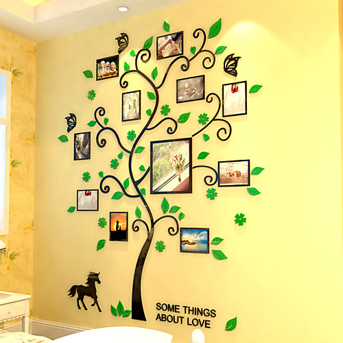 Декоративные наклейки на стены - 3D наклейки Цветочные мотивы / ботанический В помещении
