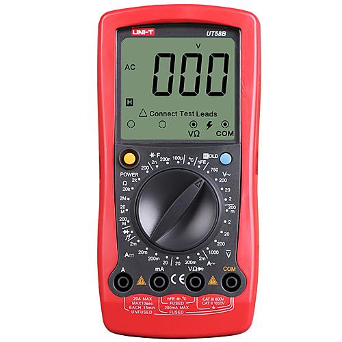 Мультиметр uni-t ut58b переменный ток вольтметр с мультиметром температуры данных фото