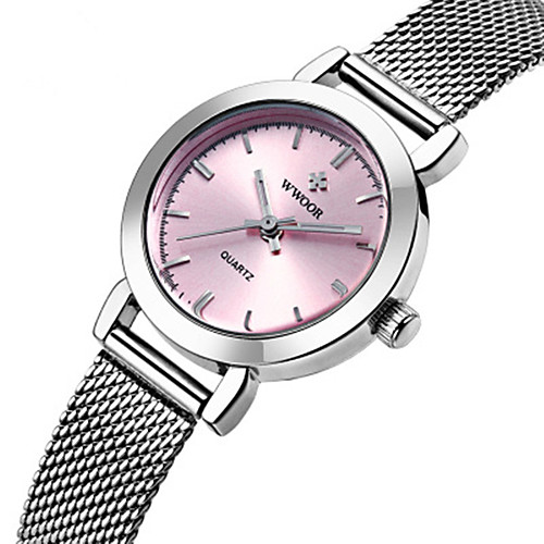 WWOOR Women's Quartz Watches Outdoor Fashion White Rose Gold Stainless Steel Japanese Quartz White Blushing Pink Rose Gold Water Resistant / Waterproof New Design Noctilucent 30 m 1 pc Analog Two