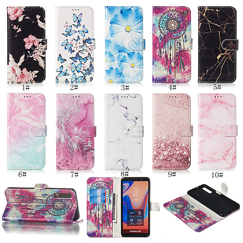Case For Samsung Galaxy A3(2017) / A5(2017) with Stand / Wallet / Card Holder Full Body Cases Flower Hard TPU / PU Leather for A7(2017) / A3(2017)
