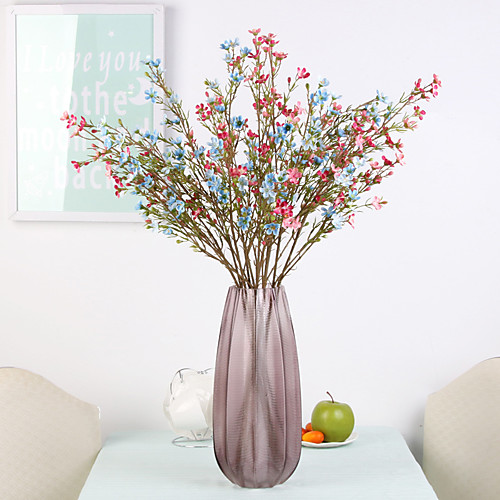 Искусственные Цветы 1 Филиал Классический европейский Простой стиль слива Вечные цветы Букеты на стол