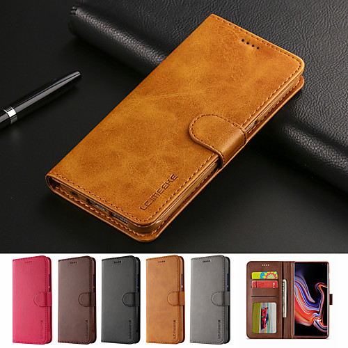 Case for Samsung Galaxy S10 S10 Plus Flip Card Holder Full Body Cases Solid Colored Soft PU Leather S10 5G S10 E S9 S9 Plus S8 S8 Plus S7 Edge