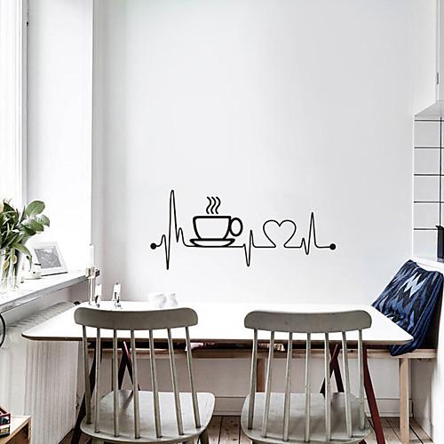 наклейки на кофейные чашки Creative - плоские наклейки на стену для транспортировки / кабинет / ландшафтный кабинет / столовая / кухня