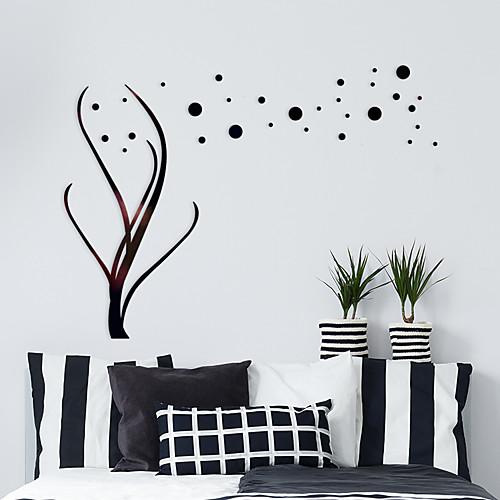 Декоративные наклейки на стены - Зеркальные стикеры Цветочные мотивы / ботанический / 3D Спальня / Кабинет / Офис