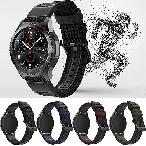 Ремешок для часов для Gear S3 Frontier / Gear S3 Classic / Samsung Galaxy Watch 46 Samsung Galaxy Спортивный ремешок Кожа / Нейлон Повязка на запястье фото