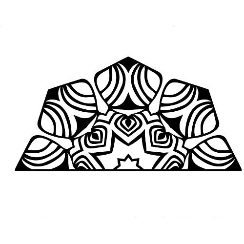 Новейшие Намасте Мандала йога искусство стикер стены спальня комната лотоса медитация Индия Будда бог ом symnol винил interio home decor