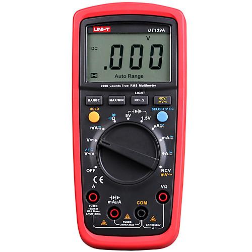 Цифровой мультиметр uni-t ut139a ut139b ut139c истинный среднеквадратичный счетчик ручной тестер 6000 вольтметр измеритель температуры измеритель температуры фото