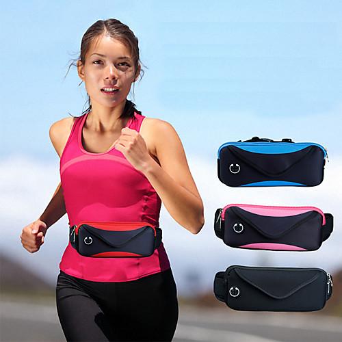 сумка талия мужская и женская путешествия двойная спортивная водонепроницаемая регулируемая сумка карманы 6 дюймов
