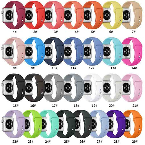 Smart Watch Band for Apple Watch Series 5/4/3/2/1 Apple Sport Band Silicone Wrist Strap Replacement Bands Compatible with Apple Watch Band 38mm 40mm 42mm 44mm Soft Silicone