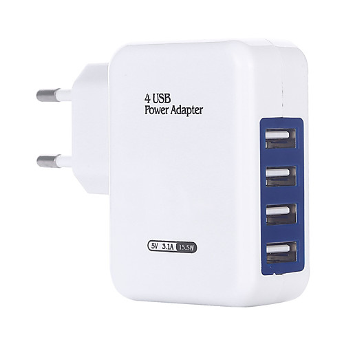 Portable Charger USB Charger EU Plug Multi-Output 4 USB Ports 3 A DC 5V for S8 Plus / S8 / S7 edge
