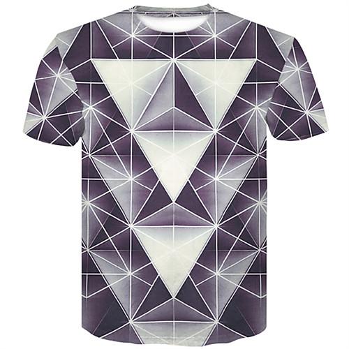 Муж. Футболка Контрастных цветов / 3D / Графика Серый XXL