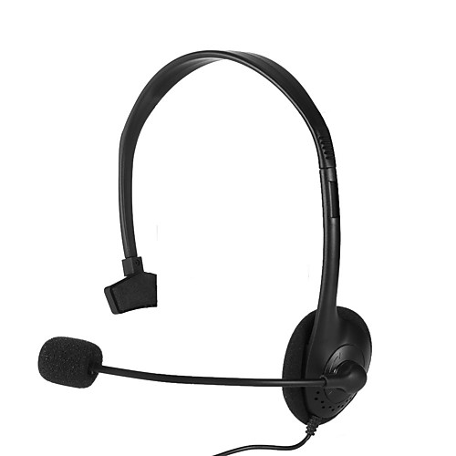3.5mm wired gaming headset single side speaker with mute switch mic for ps4