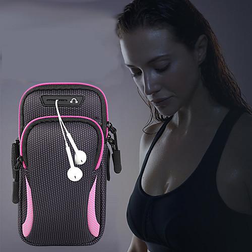 унисекс сумка сумка рука сумка спортивная сумка для бега тренажерный зал рука с держателем сумка для мобильного телефона гарнитура сумка водонепроницаемый 6,4 дюйма