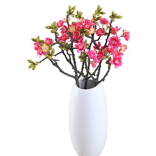 Искусственные Цветы 1 Филиал Классический европейский Простой стиль Сакура Вечные цветы Букеты на стол фото