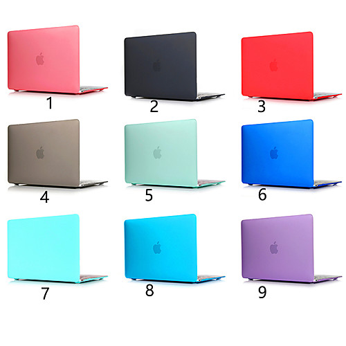 Scrub Solid Color For MacBook Pro Air 11-15 Computer Case 2018 2017 2016 Release A1989 / A1706 / A1708 With Touch Strip PVC Hard Shell