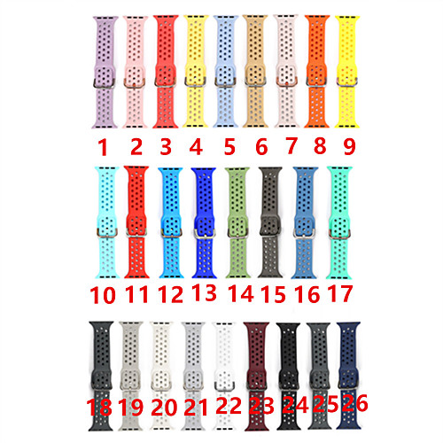 Colorful Soft Silicone Sport Band For Apple Watch 38MM 42MM 40mm 44mm Rubber Watchband Strap For IWatch Series 4 3 2 1 Wristband