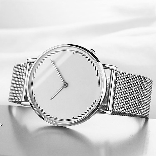 Women's Quartz Watches Casual Fashion Black Silver Gold Stainless Steel Chinese Quartz Black Silver Rose Gold Water Resistant / Waterproof Casual Watch Cool 30 m 1 pc Analog One Year Battery Life