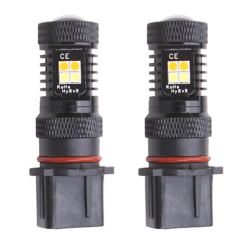 2pcs PSX26W P13W LED dual color Super bright Fog Lamps Daytime Running Lights Driving Replacement Light Switchable white/Amber
