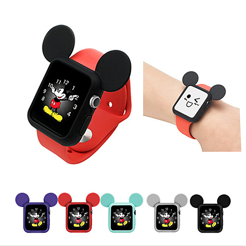 Mouse ears case For Apple Watch Series 4 3 2 1 Screen Protector Cover Case Soft Clear Thin 40mm 44mm 38mm 42mm