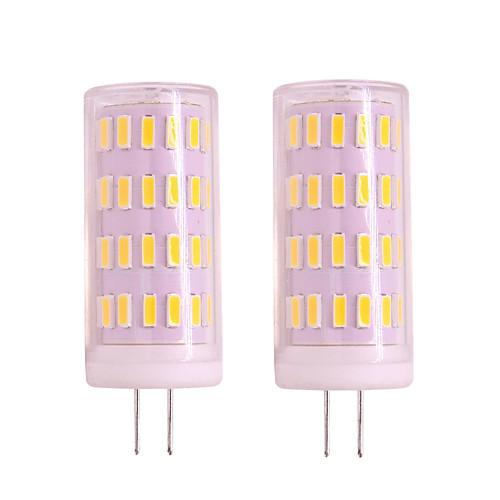 2pcs 4W G4 Gu4 LED Corn Light Dimmable 12V 24V 400LM 63 LED SMD 3020 White Warm White For Pendant Lights Porch Lights Chandelier Light