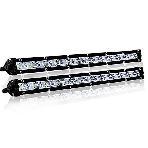 36W Single Row Off Road LED Light Ultra-slim Light Bar Driving / Work Lights for Trucks ATV Cars
