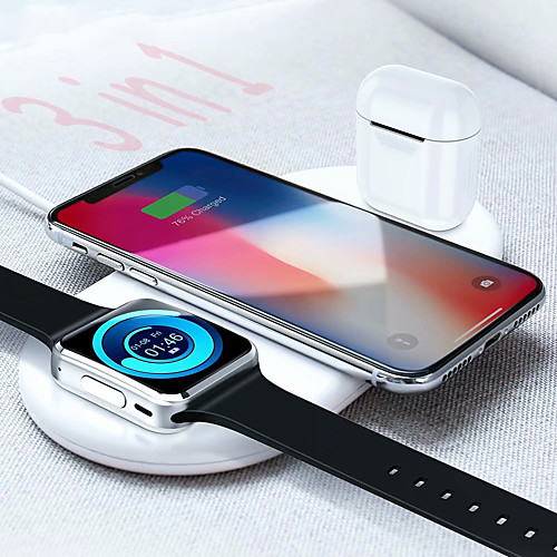 Floveme 3 in 1 Wireless Charger for Apple Mobile Phone iWatch Airpods 7.5W/10W Fast Charge for iPhone 11 Pro Max / 11 Pro / 11 / XS / XS Max / XR / X iWatch 5/4/3/2/1 AirPods 2 Pro