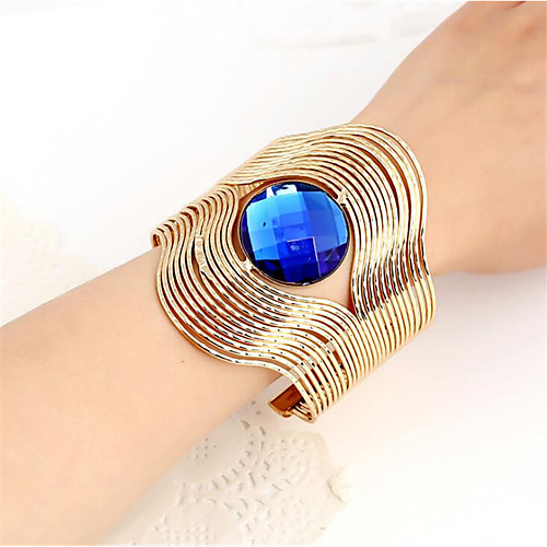 Women's Blue Champagne Resin Geometrical Cuff Bracelet Happy Casual / Sporty Fashion Bracelet Jewelry Blue / Champagne For Gift Daily